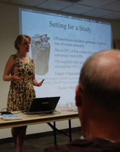 Dr. Cassandra Thiel share information about her research on health care sustainability at our September meeting.