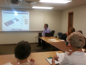 Paul Potter, TASD IT Director, shares technology deevelopment with Tomah members